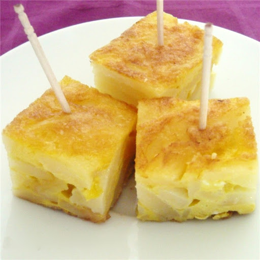 Platos nacionales típicos: Pincho de tortilla